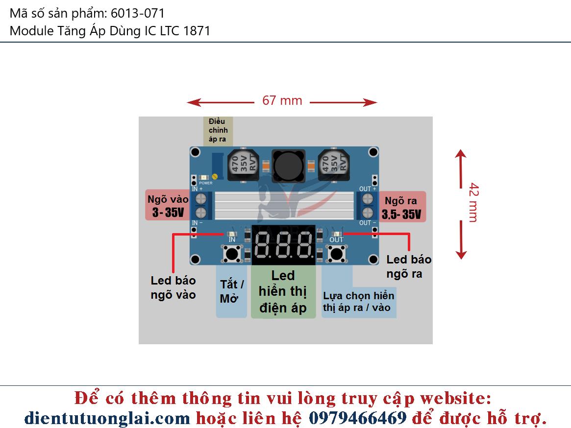 Module Tăng Áp Dùng IC LTC 1871